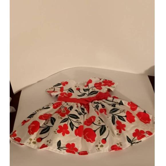 Carter's Baby Girls Formal Floral Red Dress 6M